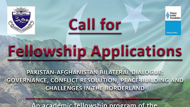 The Department of Political Science at the University of Peshawar (UoP) and the Hanns Seidel Foundation (HSF) Pakistan are collaborating to launch an academic fellowship program in 2021. Under this program, fellowship grants will be awarded to research projects that focus on exploring the nexus between peace building, conflict resolution and good governance in the Pakistan-Afghanistan borderland